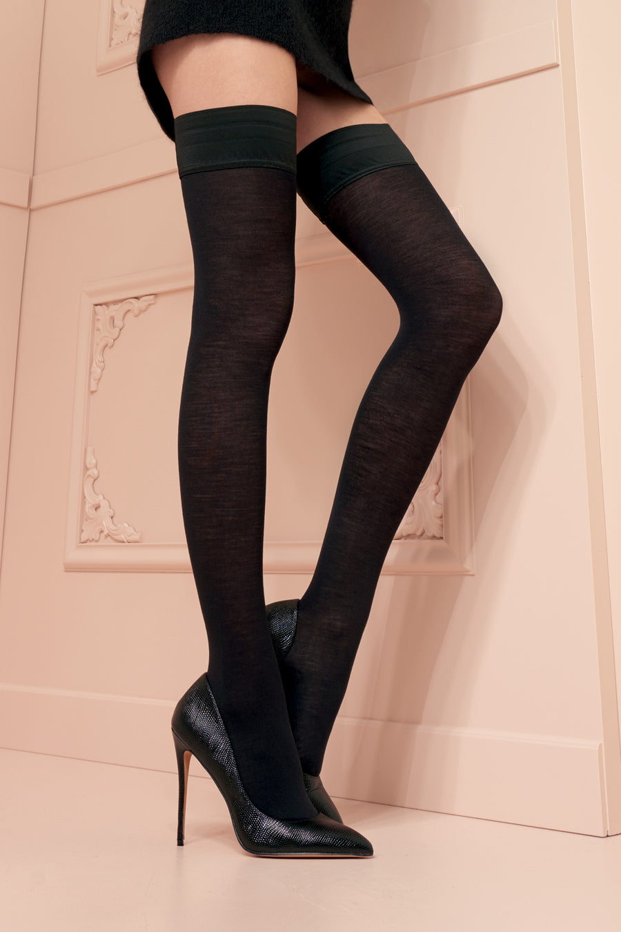 Trasparenze Jennifer Merino Wool Hold Ups - Mayfair Stockings