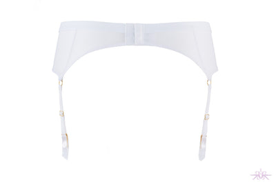 Maison Close Pure Tentation White Garter Belt - Mayfair Stockings