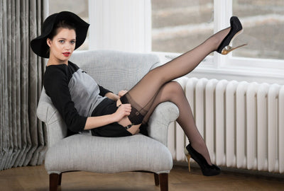Gio Point Heel Fully Fashioned Stockings - Mayfair Stockings - Gio - Stockings - 5
