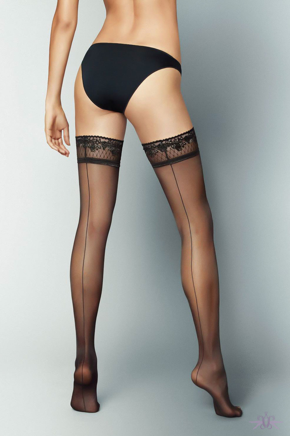 Veneziana Riga Dietro Hold Ups - Mayfair Stockings