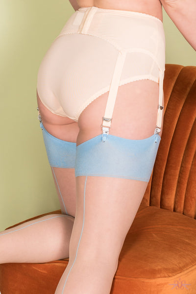 What Katie Did Blue Stockings - Mayfair Stockings