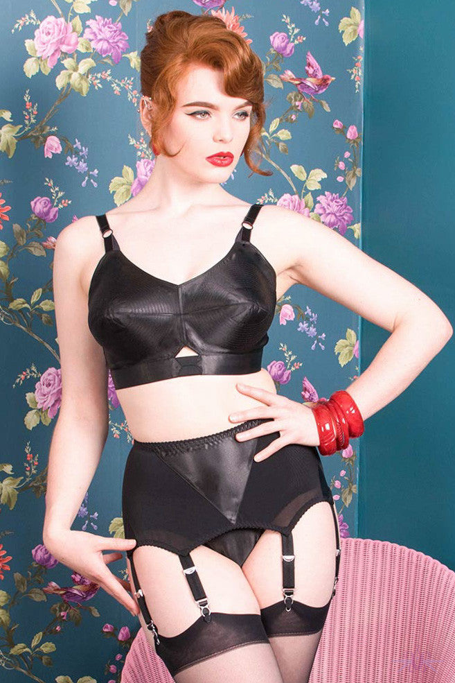 What Katie Did Maitresse Nouveau 6 Strap Suspender Belt - Mayfair Stockings - What Katie Did - Lingerie - 1