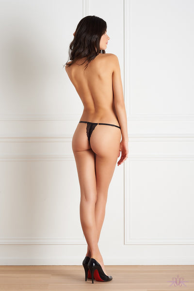 Maison Close Le Petit Secret Dentelle Openable Thong with Harness - Mayfair Stockings