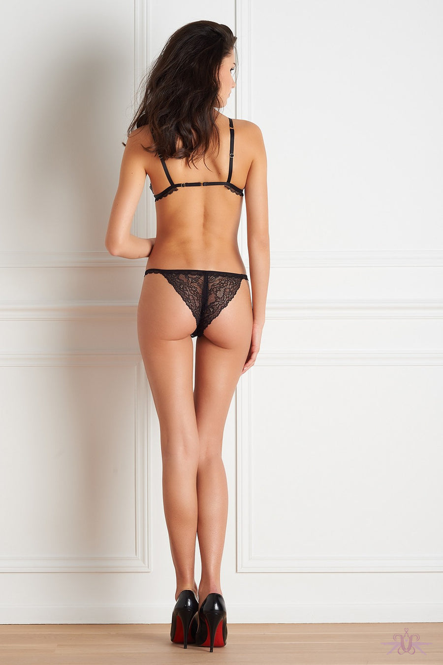 Maison Close Le Petit Secret Dentelle Openable Tanga - Mayfair Stockings