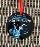 Baby Ultrasound Photo Christmas Ornament
