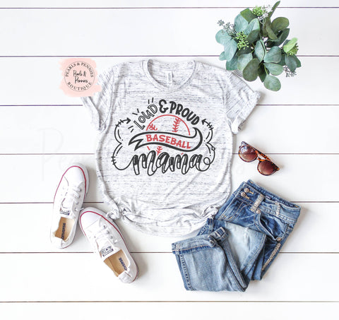 Baseball Mom Tee Shirt | Women's Graphic Tees
