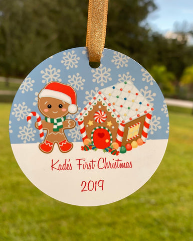 Baby Boy 1st Christmas Ornament | Baby's First Christmas, Boy Gingerbread