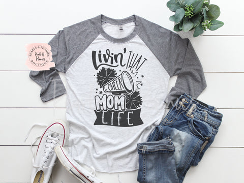 Cheer Mom Raglan | Women's Graphic Tees