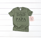 Fathers Day Shirt | Dad and Papa Rock Them Both