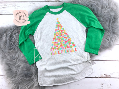 FALALALA - Green Marble | Women's Christmas Graphic Tees