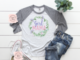 Girl Mama Raglan | Women's Graphic Tees | Mommy & Me