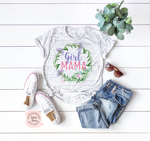 Girl Mama Tee Shirt | Women's Graphic Tees | Mommy & Me