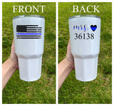 Police Wife Personalized Tumbler