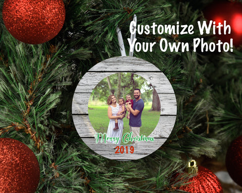 Custom Photo Christmas Ornament | Merry Christmas 2019