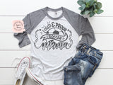 Soccer Mom Raglan | Women's Graphic Tees
