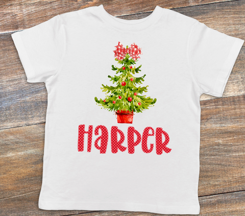 Girl Christmas Shirt or Bodysuit | Baby & Kids Christmas Graphic Tees