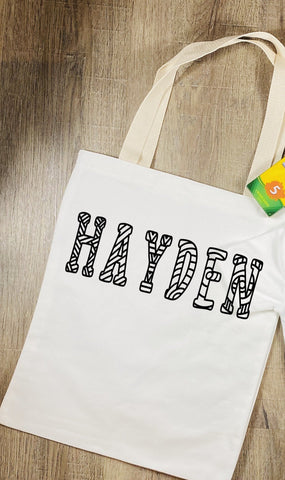 "Color Your Own Tote ""Personalized with Name"""