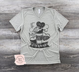 Coffee V Neck | Women's Graphic Tees