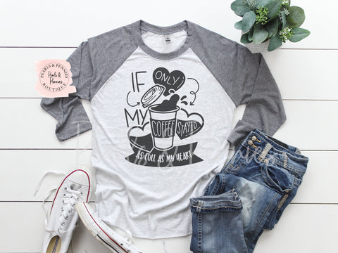 Coffee Raglan | Women's Graphic Tees