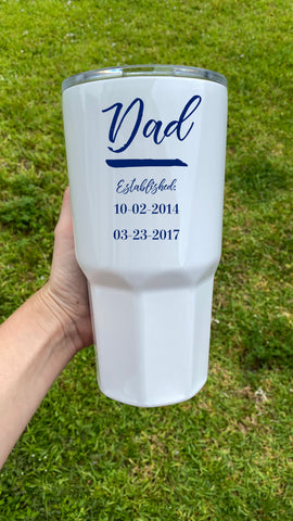 Personalized Dad Tumbler with Dates