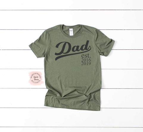 Fathers Day Shirt | Dad Established Dates Shirt