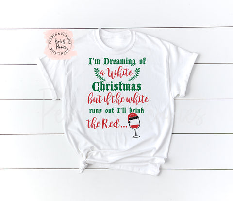 Drink The Red Shirt - White | Women's Christmas Graphic Tees