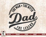 Fathers Day Shirt | The Man The Myth The Legend