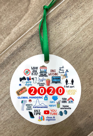 2020 Christmas Ornament Covid