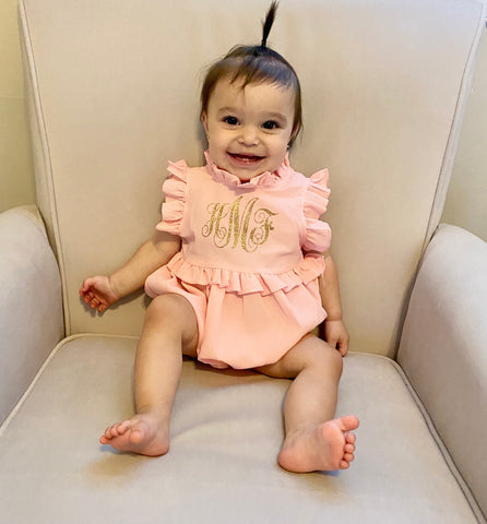 Personalized Easter Baby Outfit | Monogrammed First Birthday Outfit | Birthday Romper | Monogram Baby Outfit | Kids Clothing