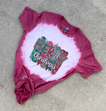 Merry Christmas Bleached Tee PRE-ORDER | Women's Graphic Tees