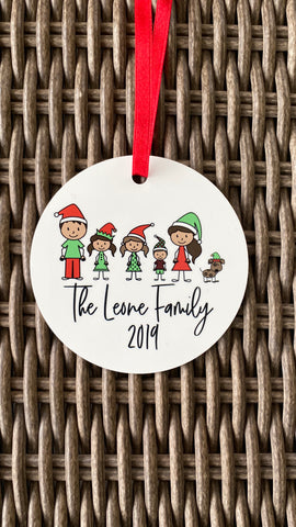 Personalized Family Ornament | Custom Christmas Ornament | Family Gift | Personalized Family Keepsake