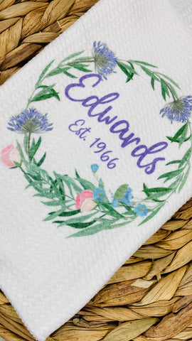 Family Name Kitchen Towel (3)