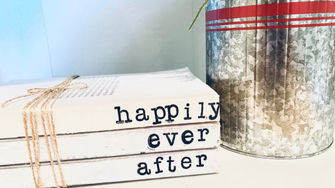 Happily Ever After Hand Stamped Books