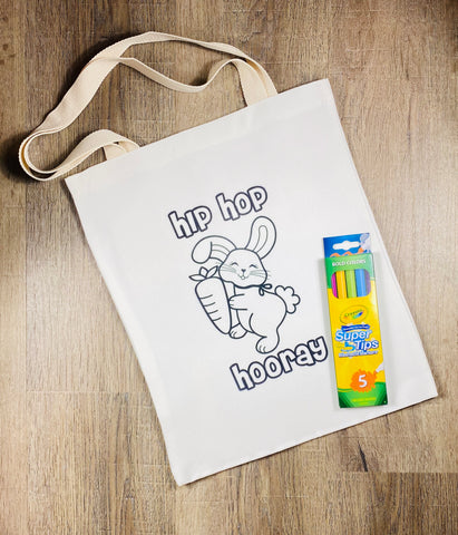 "Color Your Own Tote ""Hip Hop Hooray"""