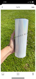 What The Fucculent | Skinny White Shimmer Tumbler or Can Cooler