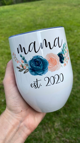 Mama established date Tumbler
