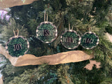 Rustic Christmas Farmhouse Ornament Set
