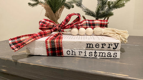 Christmas Hand Stamped Books