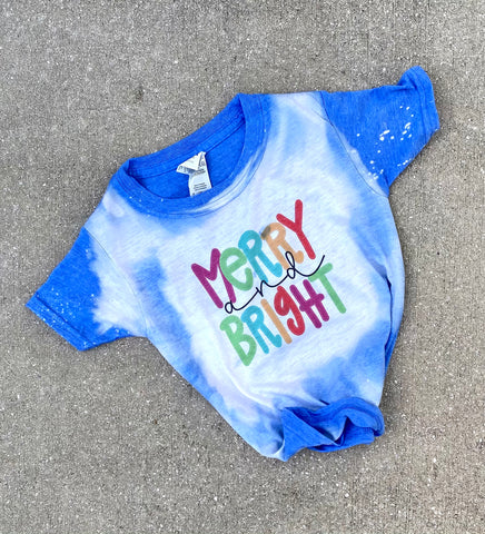 Merry & Bright Kids Tee PRE-ORDER | Baby & Kids Christmas Graphic Tees