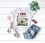 Jingle - White Marble | Women's Christmas Graphic Tees