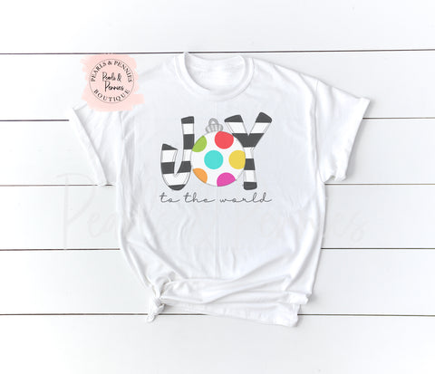 Joy To The World - White | Women's Christmas Graphic Tees