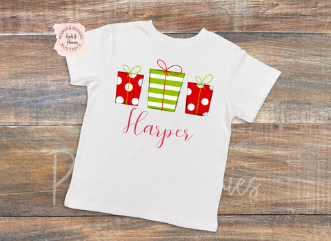 Girl Presents Christmas Shirt or Bodysuit | Baby & Kids Christmas Graphic Tees