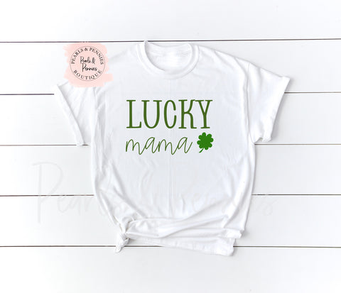Lucky Mama Tee | Women's Graphic Tees | Mommy & Me