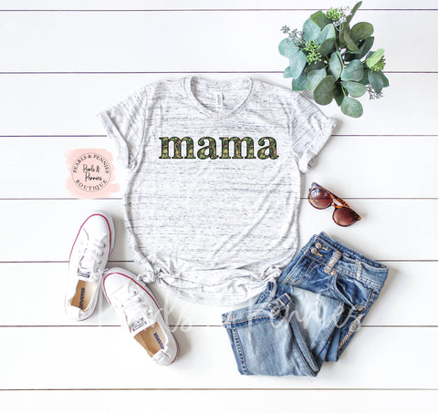 Mama Camo Shirt | Women's Graphic Tees