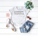 Floral Personalized Nonna Shirt | Women's Graphic Tees