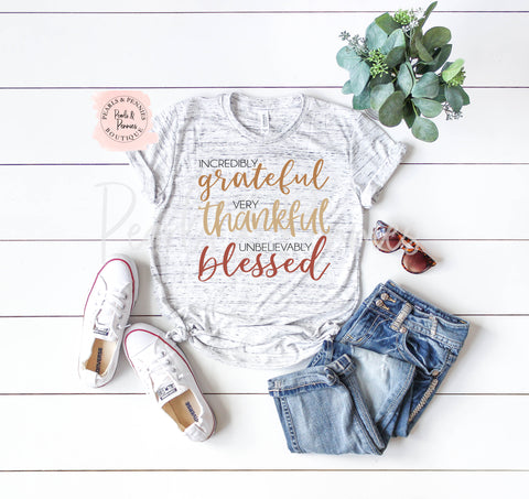 Thankful and Blessed | Women's Fall Graphic Tees