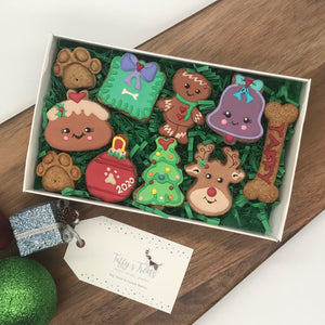 Christmas Dog Treat Box by Taffy's Treats