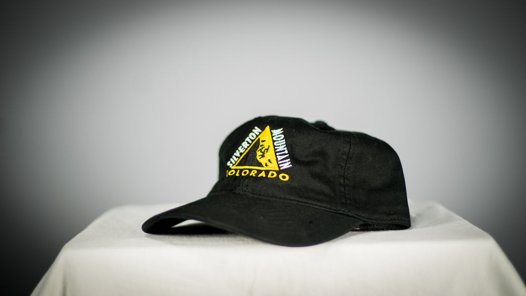 Black Twill Caution Logo Hat