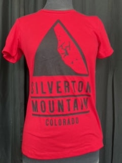 Women's Red Falling Man Tee