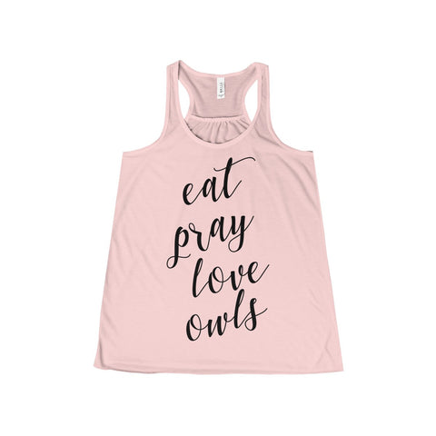 Eat Pray Love Owls Tank